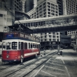 Hong Kong - traditional tram...
